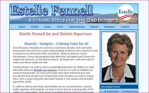 Estelle Fennell - candidate for 2nd district supervisor Humboldt County