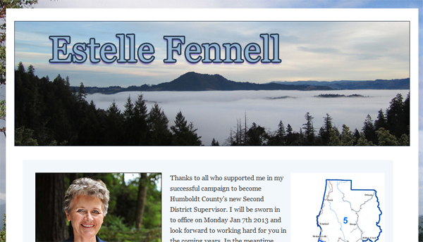 Estelle Fennell  2nd district supervisor of Humboldt County