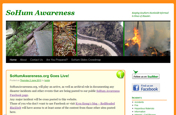 SoHumAwareness.org - Keeping Southern Humboldt informed in times of disaster